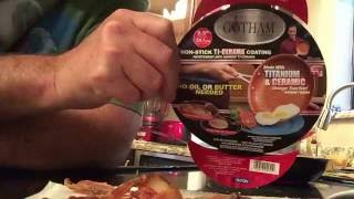 gotham steel 9 5 inche non stick titanium skillet product review actual performance test