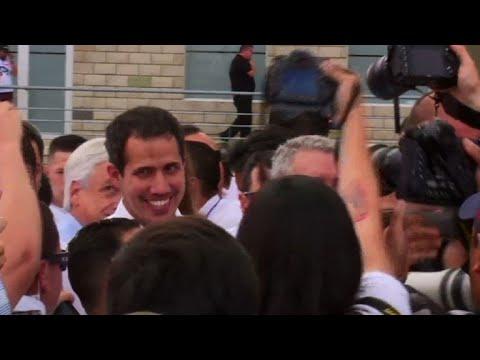 afpes: Opositor venezolano Guaidó llega a concierto de lado colombiano