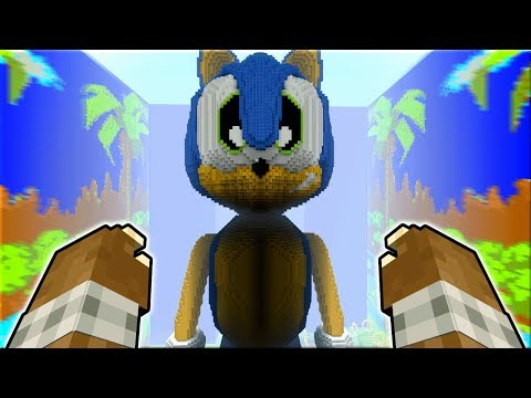 I BET YOU CANT OUTRUN THIS SCARY BEAST !! - Sonic Minecraft xbox