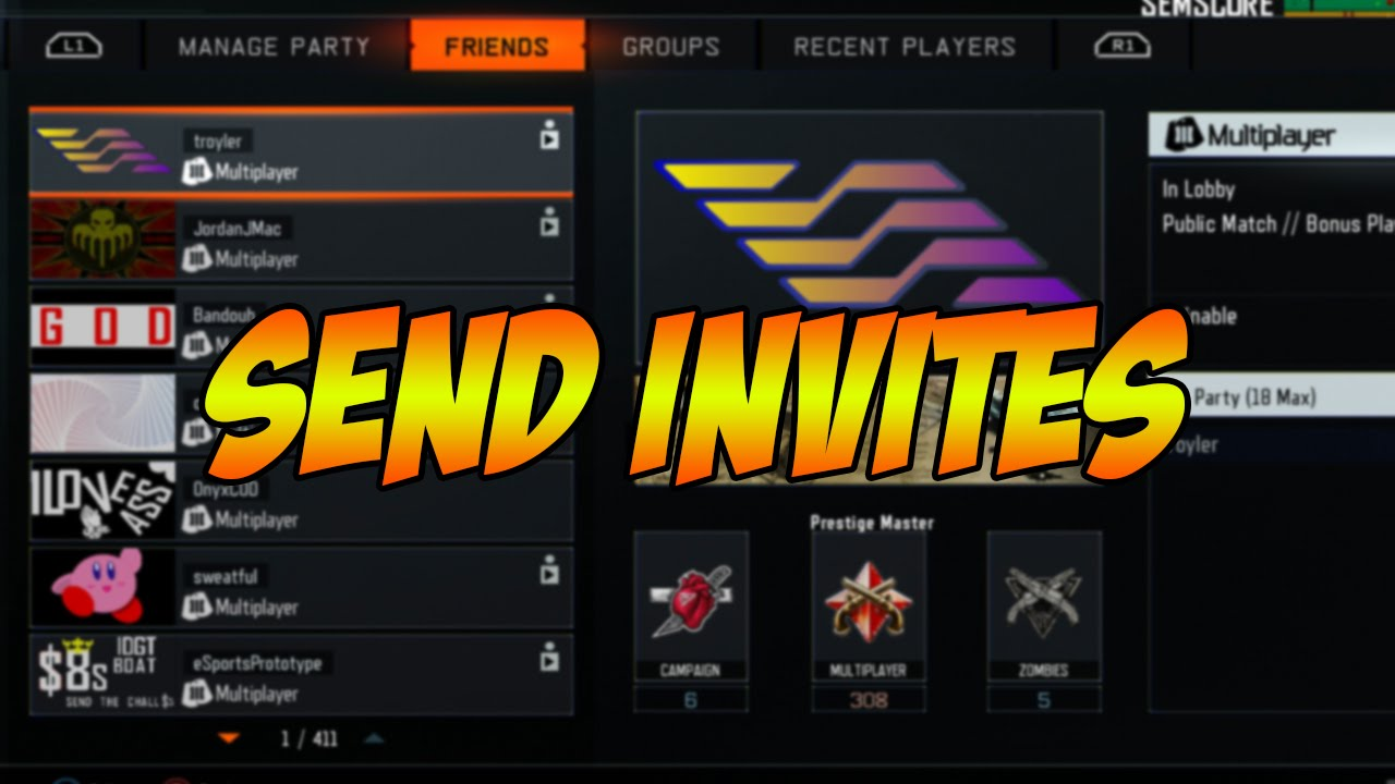 How to Invite People Without Adding Them to Your Friends List! (PS4)