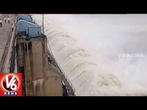 Sriram Sagar Project Filled With Flood Water | Officials Lifted 42 Gates | Nizamabad | V6 News
