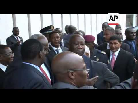 WRAP ECOWAS presidents meet Gbagbo, Ouattara and Odinga sots