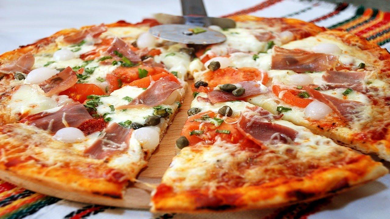 рецепт настоящей пиццы с ветчиной