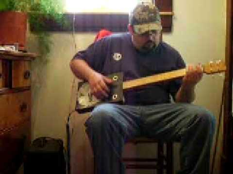Cigar Box Resonator Guitar, #88 Back Porch Mojo