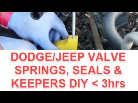 How to Replace Chrysler Dodge Jeep 3.7/4.7 Valve Seals, Valve Spring using a Spring Compressor Tool