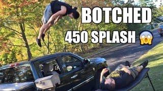 botched 450 splash backyard wrestling table match duhop vs grims nephew