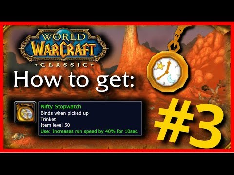 The Nifty Stopwatch - How To Get It In Classic World Of Warcraft - PvP Trinkets Ep.3