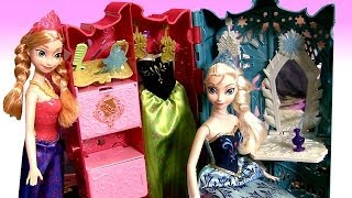 Frozen Royal Closet Princess Anna Elsa Barbie Carry Case Fashion Glam Coronation Dress-up Disney