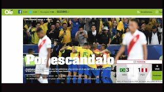 La reacción de la prensa internacional tras el Brasil vs. Perú por Copa América