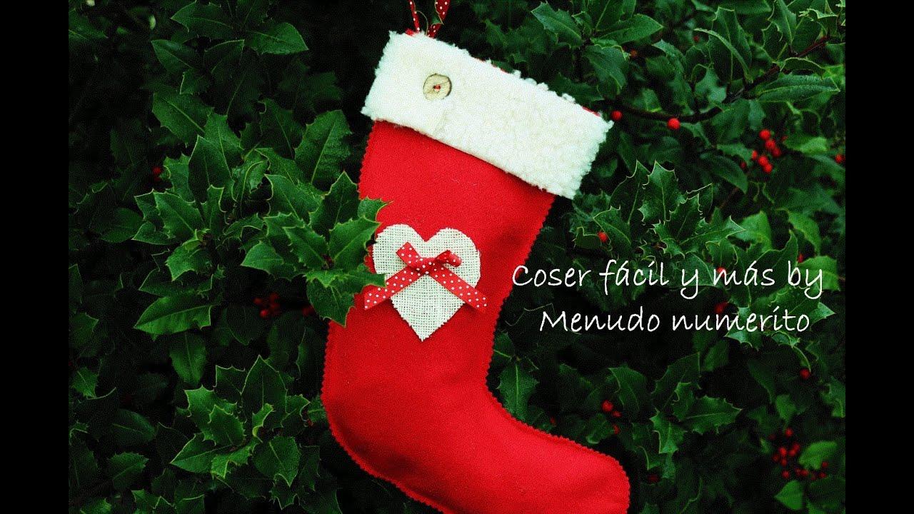 Cmo hacer un calcetn de Navidad fcil DIY Easy Christmas