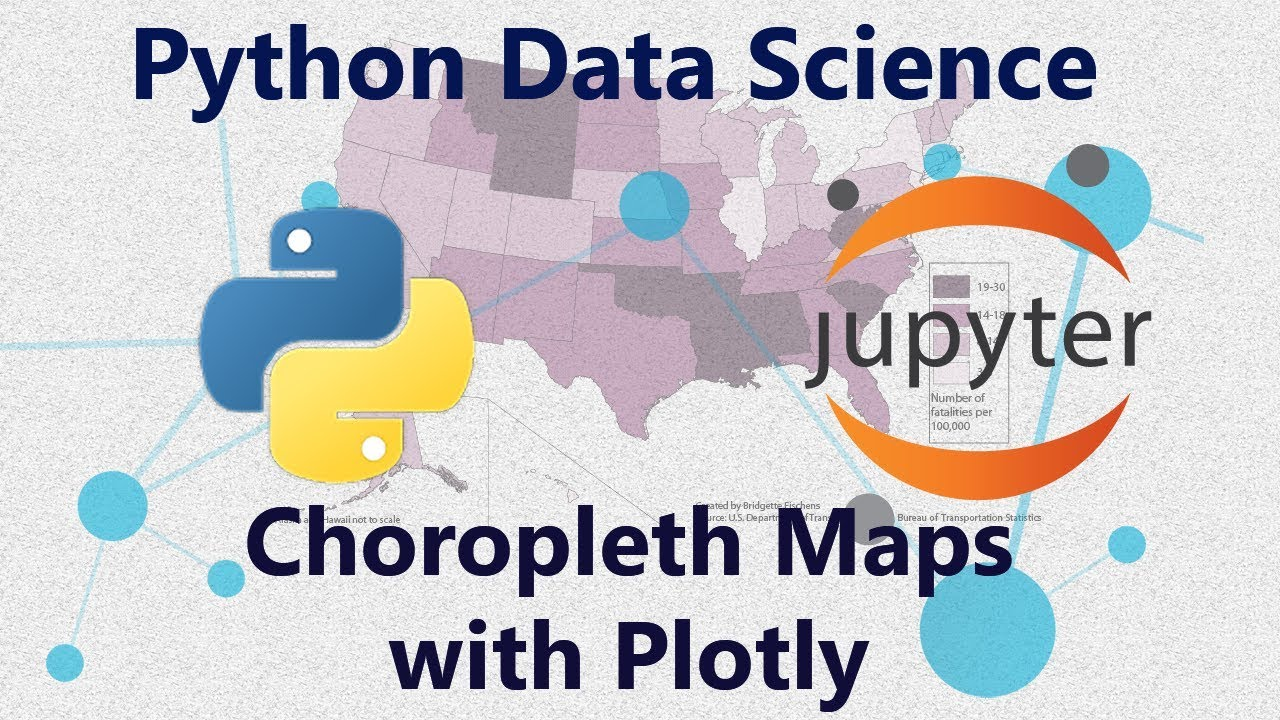 Geographic Choropleth Maps in Python Using Plotly - Pandas - Tutorial 38 in  Jupyter Notebook