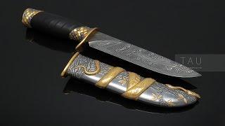PITHON. Эксклюзивный охотничий нож. Damascus steel knife.(Охотничий нож