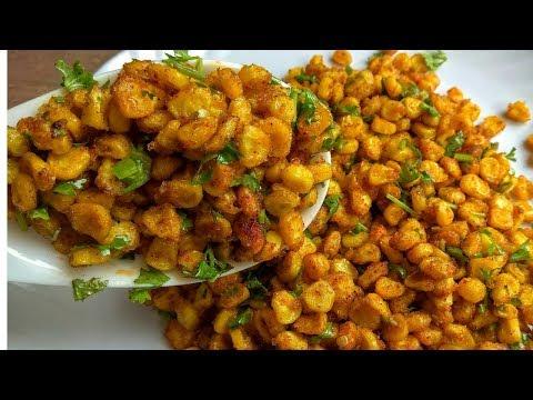 क्रिस्पी चटपटी स्वीट कोर्न-Healthy Recipes-Spicy Sweet Corn Chaat-Chatpata Crispy Corn-Snack