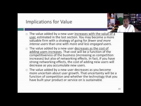 User and Subscriber Economics/Value: A User-Based Valuation of Uber