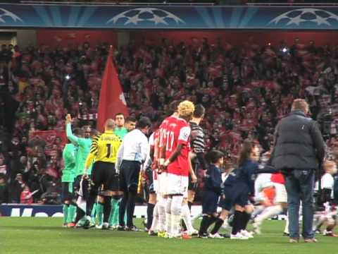 Emirates Stadium - Fuck Barça!