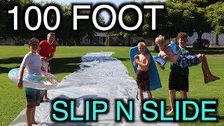 INSANE 100 FOOT SLIP N SLIDE!