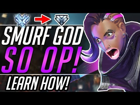 SMURF SOMBRA IN RANKED - Overwatch Gameplay Guide and Tips