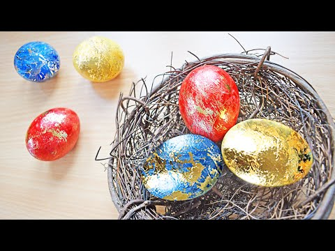 Coloring Easter Eggs - DIY Easy Tutorial - Amazing Golden Eggs!