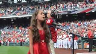 Sophia Nadder sings National Anthem for Washington Nationals