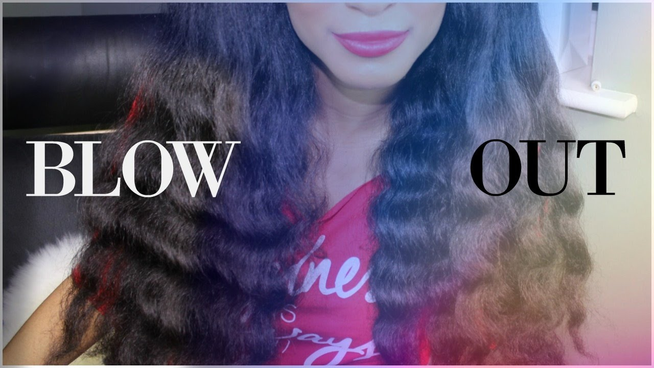 how to blowout natural hair tailbone length tension