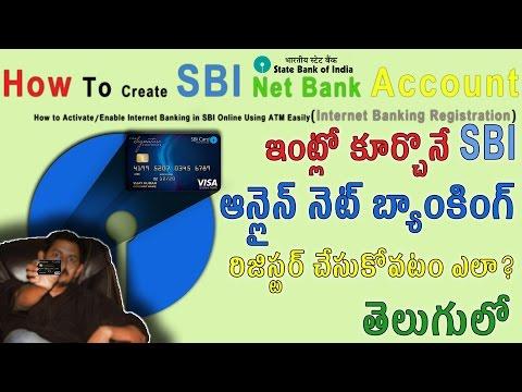 How To Create SBI Net Banking  Account [Telugu]  తెలుగులో