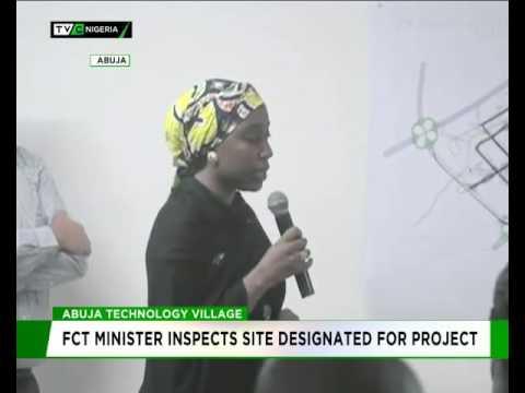 FCT MINISTER INSPECTS ABUJA TECHNOLOGY VILLAGE