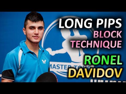 Ronel Davidov - SlowMotion long pips Block technique of Offensive chop-blocker Ронель Давидов
