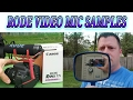 Canon T7i with Rode VideoMic Go Test