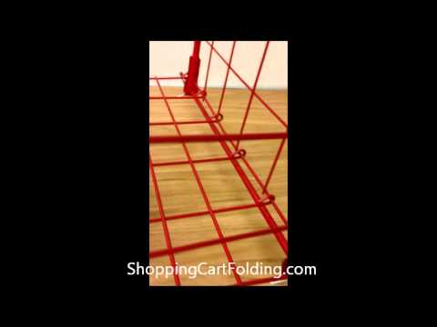 Shopping Cart w/ Swivel Wheels Assembly Instuction