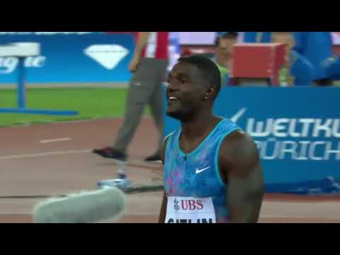 GATLIN AND POWELL DEFEATED IN MENS 100M - IAAF Diamond League Zurich 2017