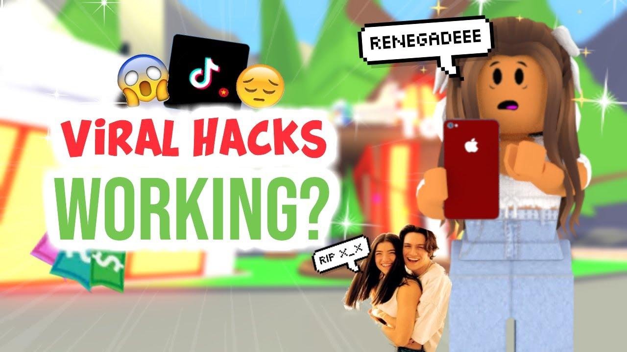 Testing Viral Adopt Me Tik Tok Hacks They Actually Work Sunsetsafari Youtube