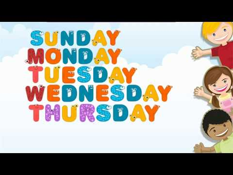 Days Spellings of the week|| Sunday, Monday, Tuesday, Wednesday || for Kids Learning