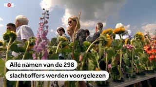 Bekijk de herdenking van de slachtoffers vliegramp MH17