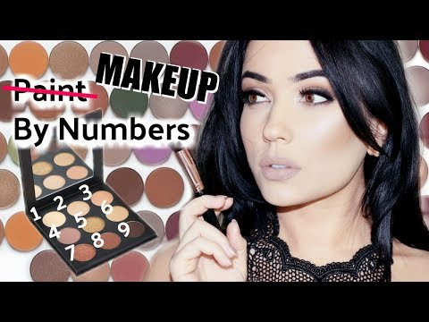 Eyeshadow Palette Talk Through Tutorial | Painting By Numbers How To Apply Eyeshadow