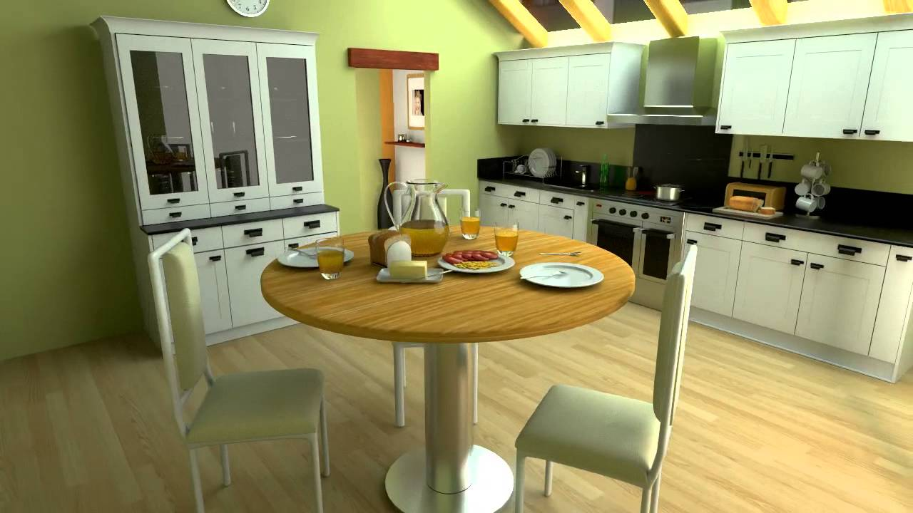 animation 3d d 39 une cuisine avec blender tutorial youtube. Black Bedroom Furniture Sets. Home Design Ideas