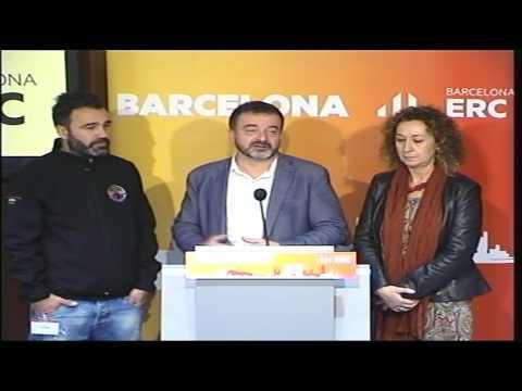 Roda de Premsa d'ERC amb estibadors del Port de Barcelona