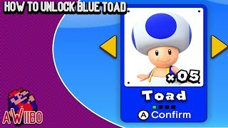 New Super Mario Bros. U Deluxe - How To Unlock Blue Toad