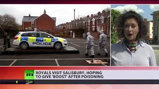 'Boost' Salisbury: Royals visit place where Skripals were poisoned