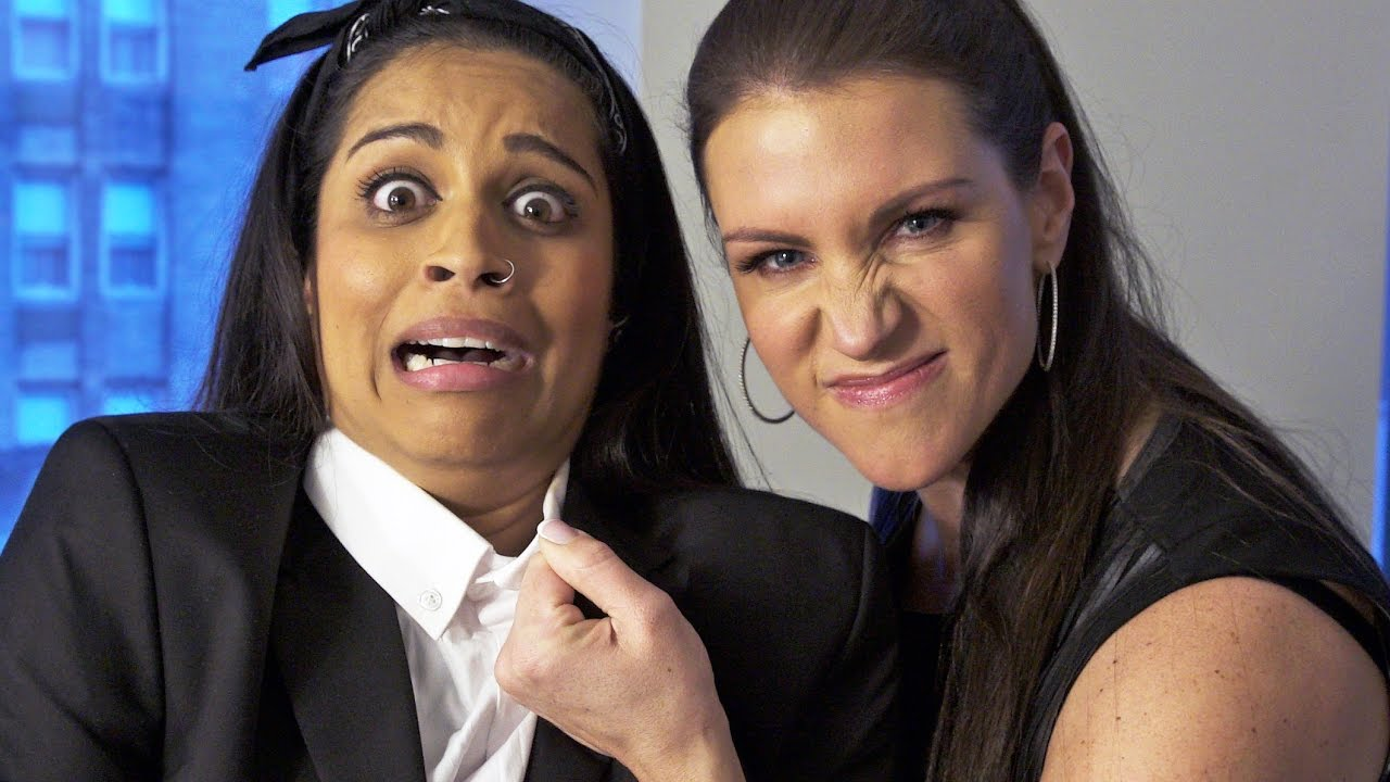 Go behind the scenes of Lilly Singh's YouTube shoot with Stephanie McMahon  - YouTube