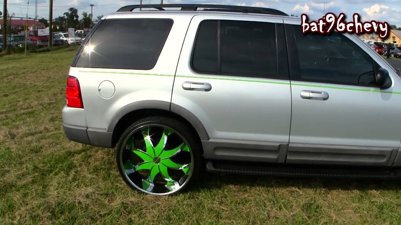 Grey Green Ford Explorer On 26 Quot Rock Starrs 1080p Hd