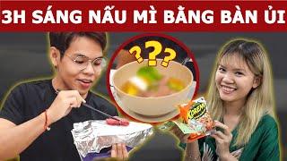 3h sáng nấu mì bằng Bàn Ủi cùng bé Mỡ | Oops Banana V10g 177