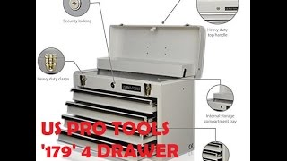 US Pro Tools 179 4 draw tool box / chest #1534