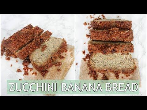 HEALTHY Zucchini Banana Bread | Paleo & Refined Sugar Free