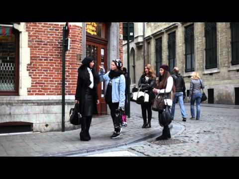 Modest Street Fashion: Brussels (Bruxelles), Belgium - November 2013