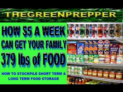 HOW $5 A WEEK CAN GET YOUR FAMILY 379 lbs of FOOD - STOCKPILE SHORT & LONG TERM FOOD STORAGE