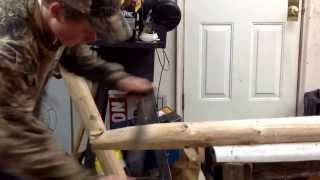 How To Make A Log Tenon By Hand