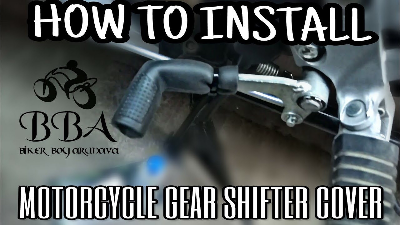 How To Install Motorcycle Gear Shifter Cover Shoe Protector Youtube