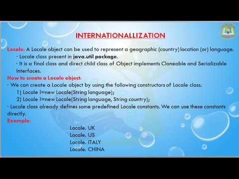 Lesson - 1 : i18n - Locale class in Internationalization in Java Programming