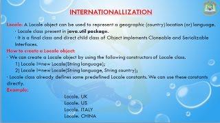 Lesson - 1 : i18n - Locale class in Internationalization in Java Programming