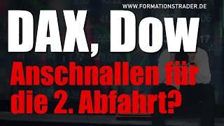 Dax, Dow Jones: Anschnallen für die 2. Abfahrt?